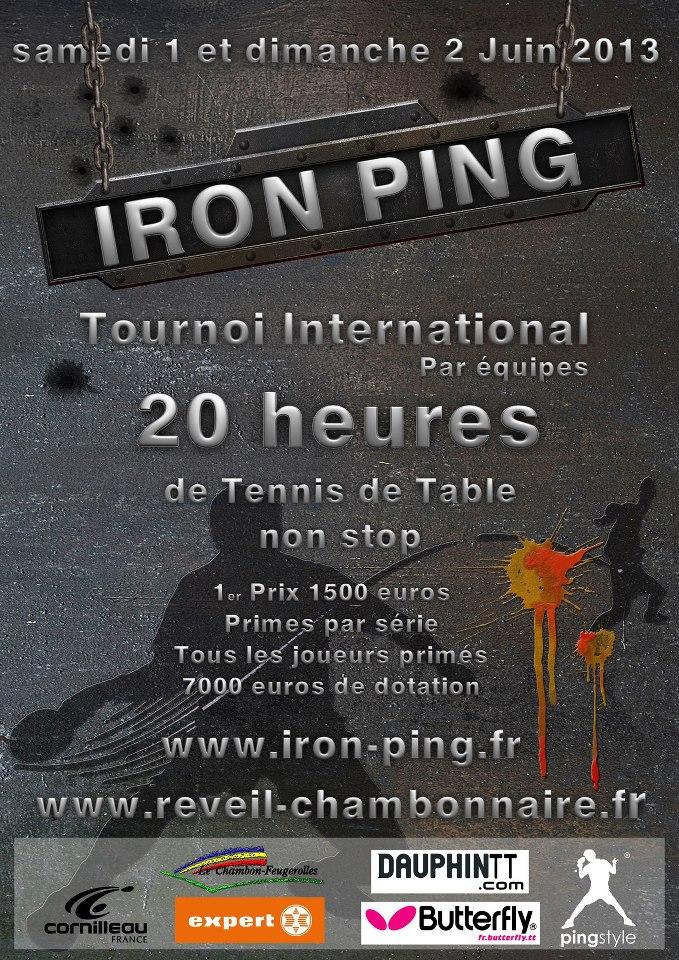 Classement et articles de presses de notre tournoi International : Iron Ping
