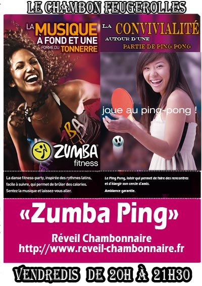 Zumba Ping, les inscriptions sont ouvertes