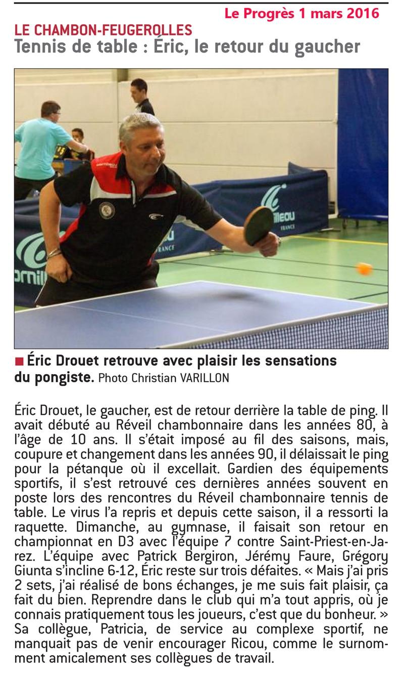 Eric Drouet, le retour.