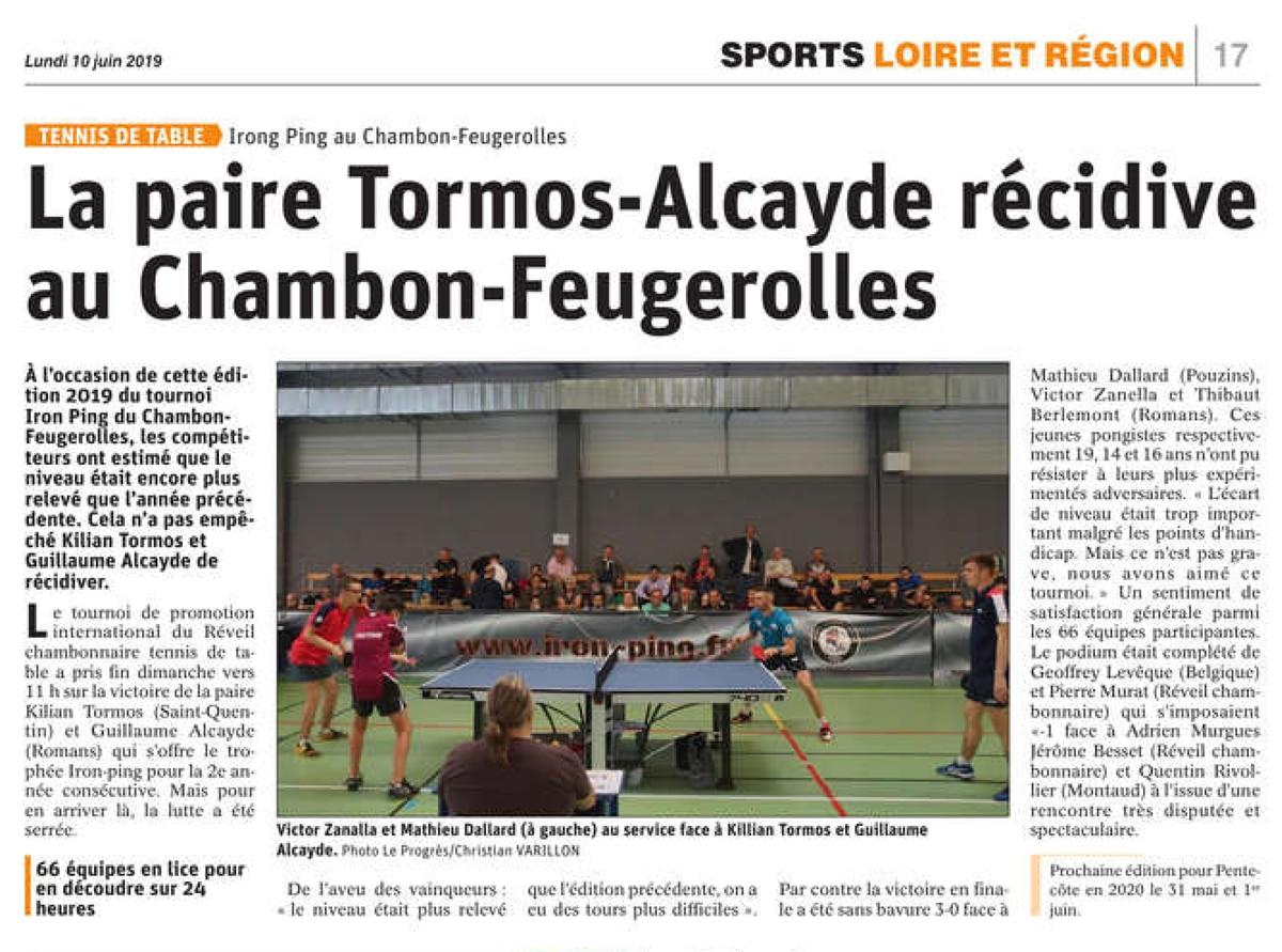 Tormos-Alcayde pour la 2ème fois