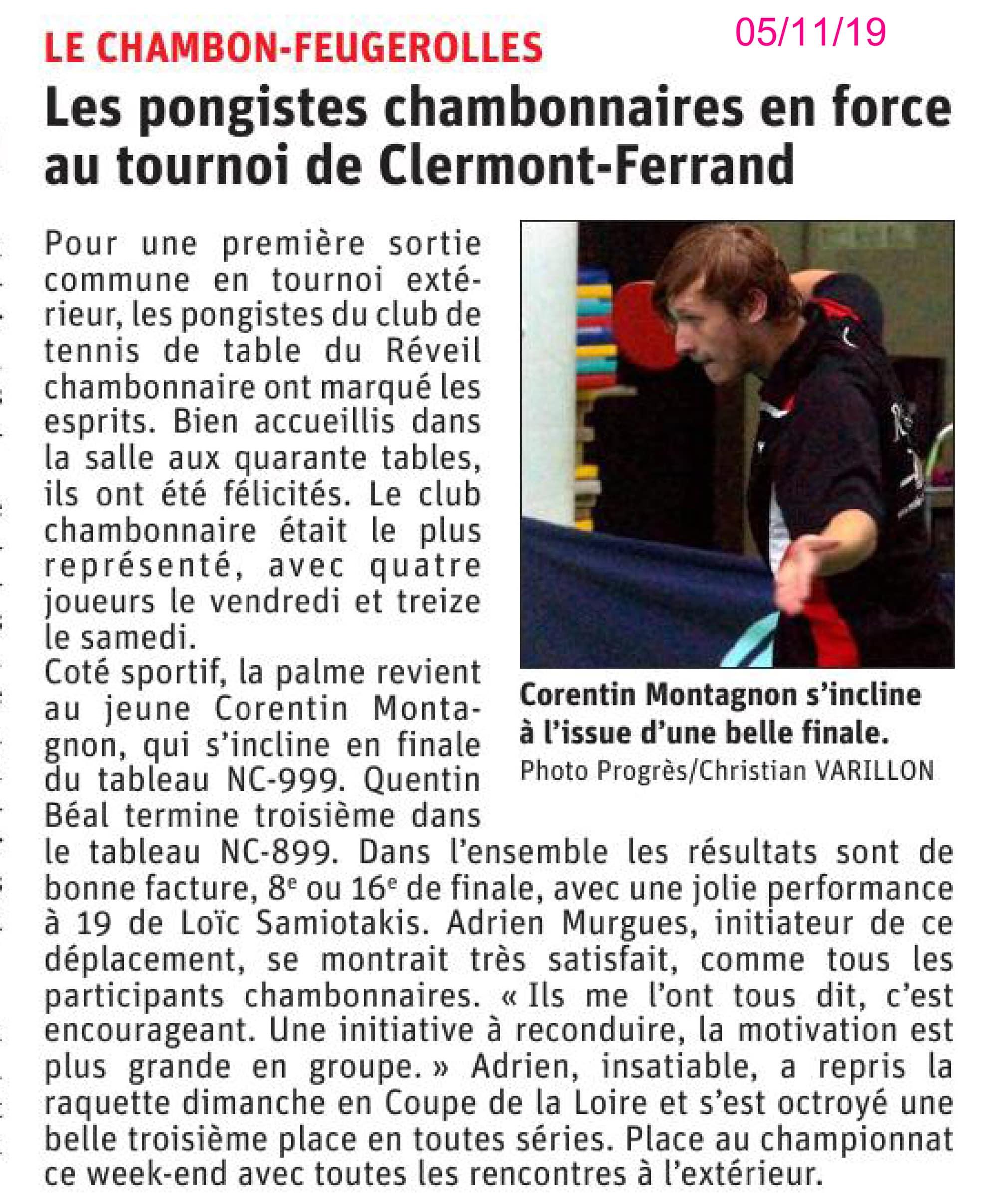 Le RCTT, club le plus représenté au tournoi du stade clermontois