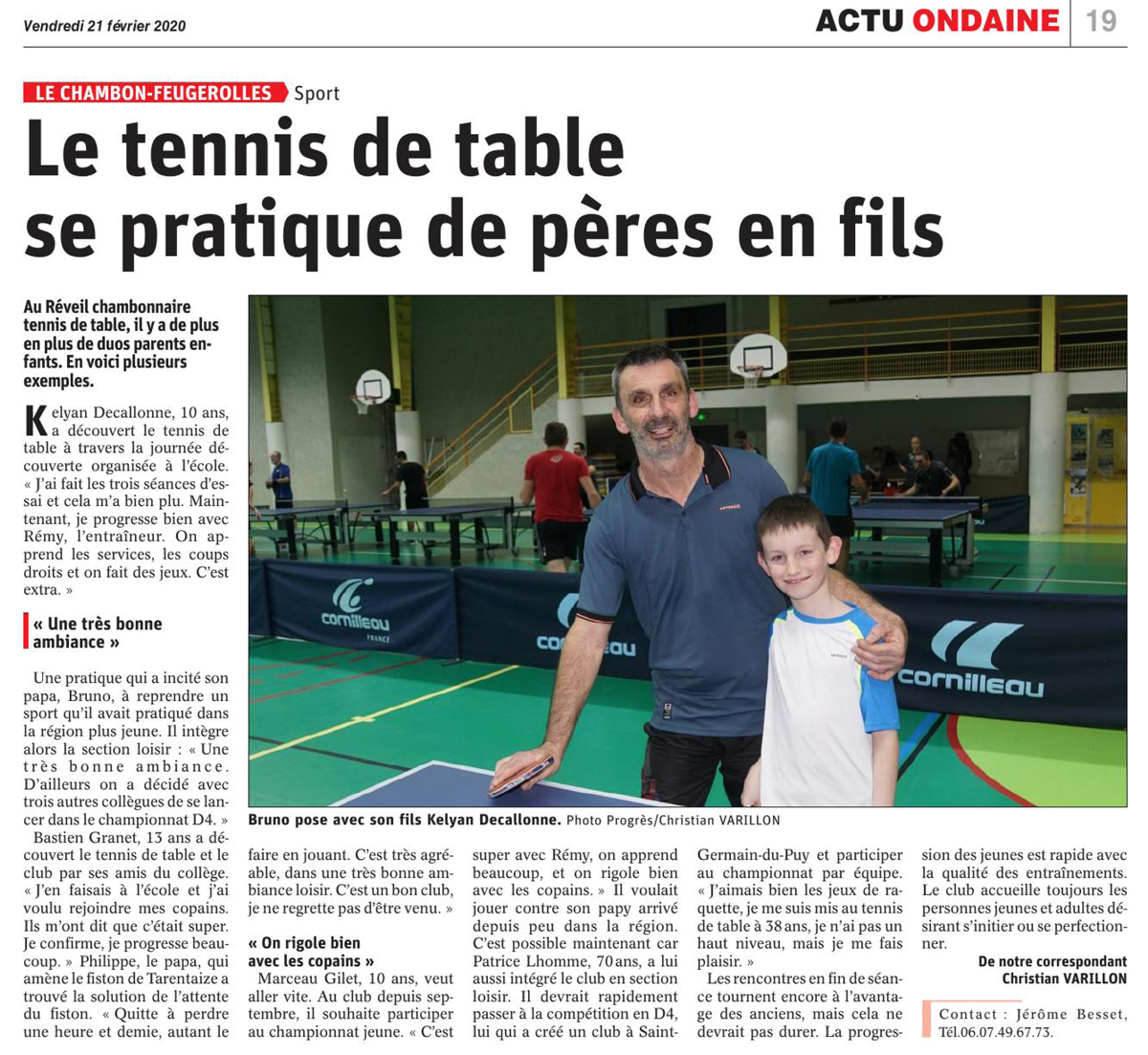Le tennis de table en famille