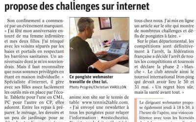Jérome Besset propose des défis sur internet
