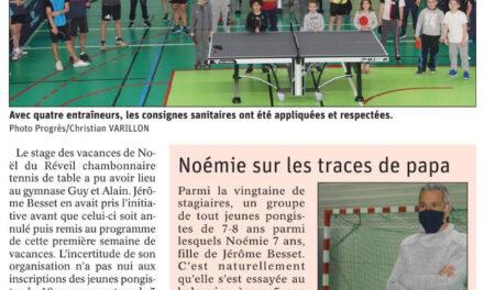 Stage de tennis de table au Chambon