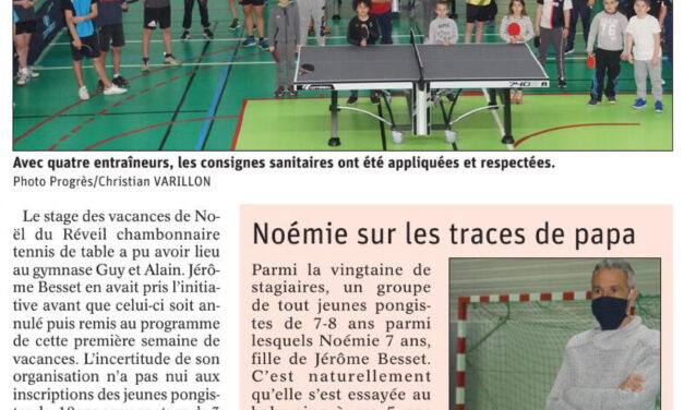 Stage de tennis de table au Chambon