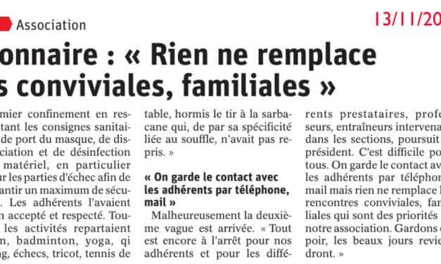 Réveil Chambonnaire : «Rien ne remplace les rencontres conviviales, familiales»