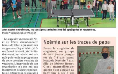 Tennis de table : un stage bien apprécié en cette période en attendant la compétition